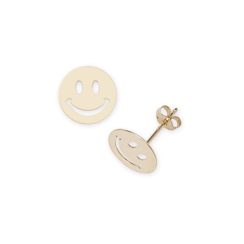 14 KT Children's Smiley Face stud earrings