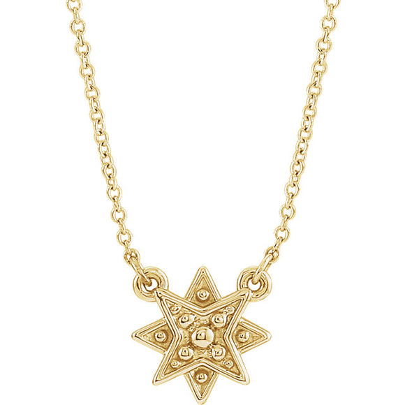 14 KT Happy Star diamond necklace