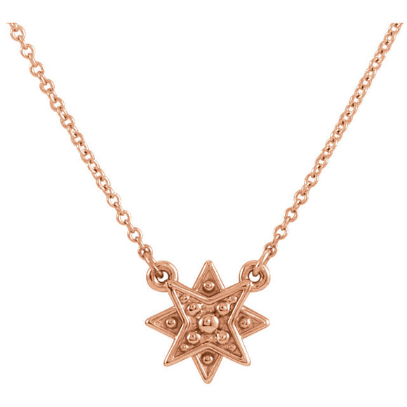 14 KT Teen Starburst diamond necklace