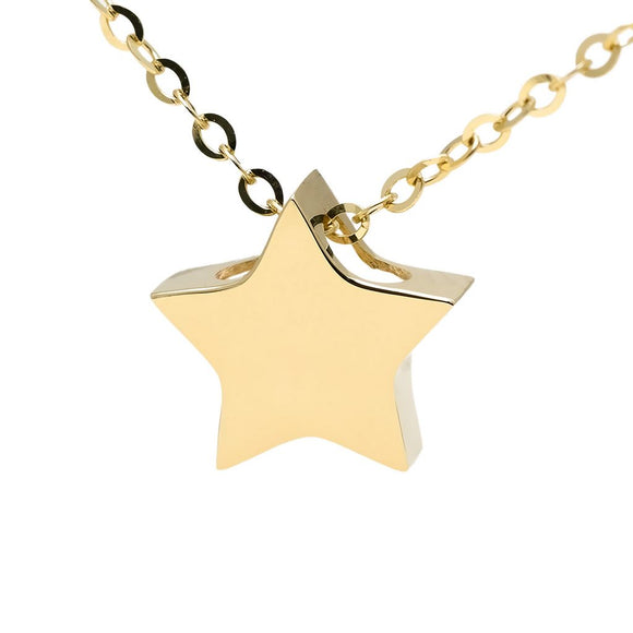 14 KT Slide on star necklace