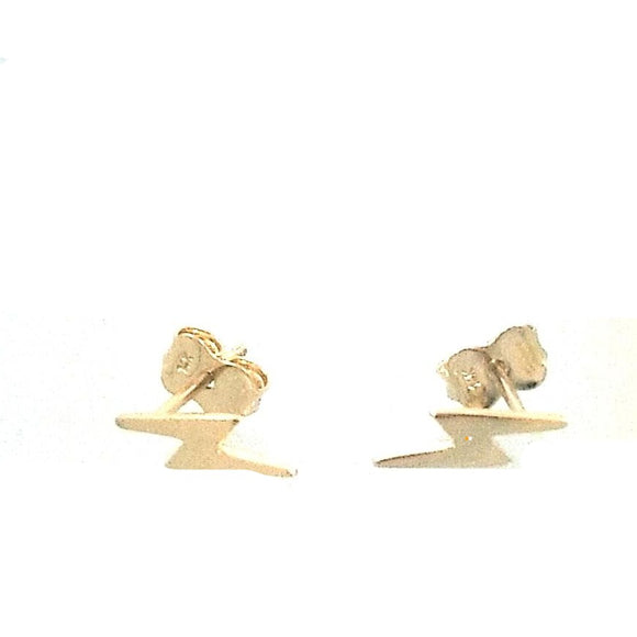 14KT Children's Lightning Bolt  Earrings