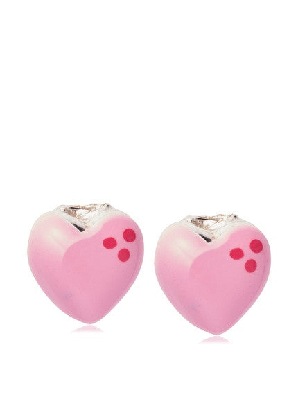 Pink+sterling+silver+enamel+heart+stud+earrings+breast+cancer+awareness+month+jewelry