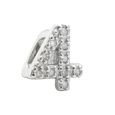 Diamond Slider Number Symbol Charms 0-9