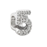 slider diamond number charm 5