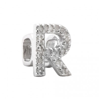 Bar Slider Bracelet Diamond A-Z  Charms