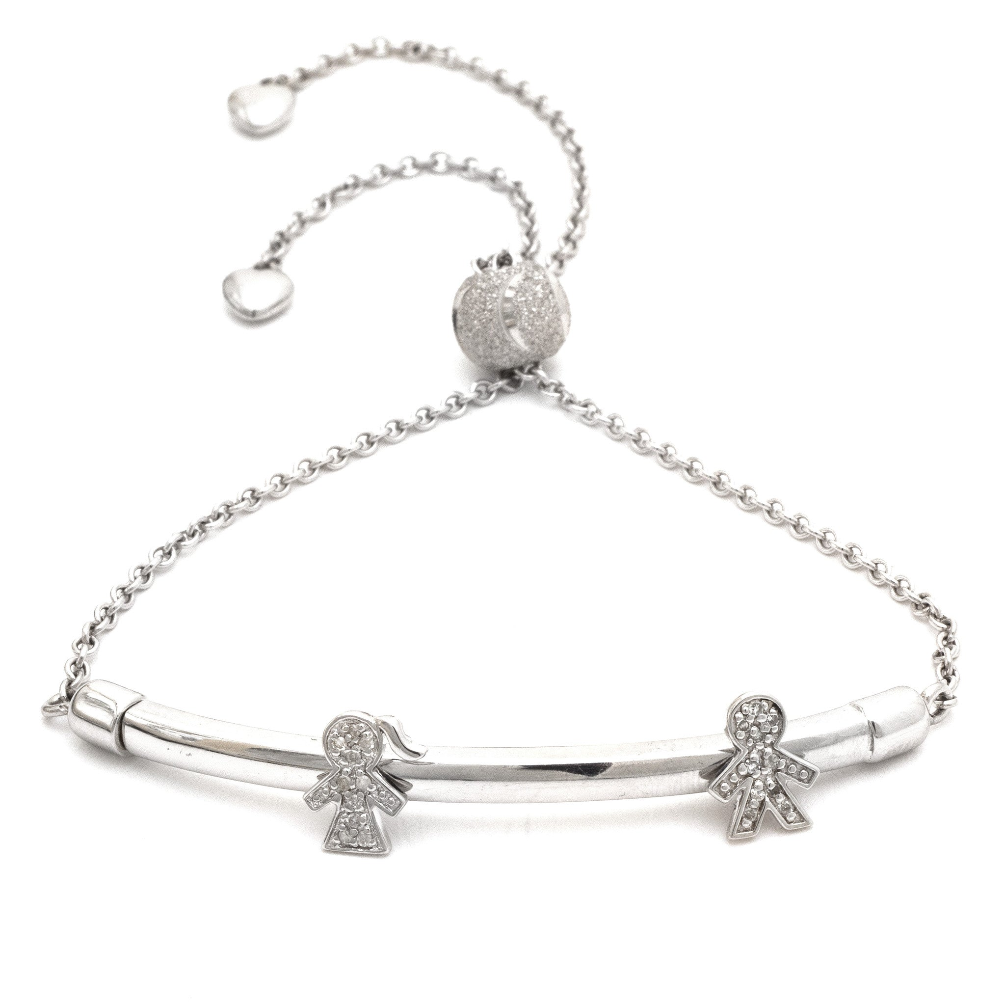slider jewellery bead sterling bracelet silver rhodium plated