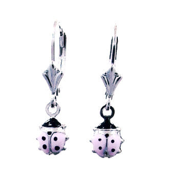 Sterling Kid's ladybug  earrings