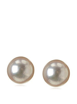 14 KT Children's 6mm. Round Pearl gold clutch back
