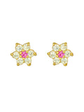 14KT Baby flower screw back earrings
