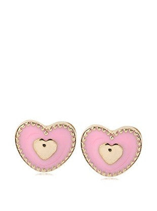 Mindy Harris Trim Heart Earrings