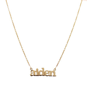 Gold multiple name necklace