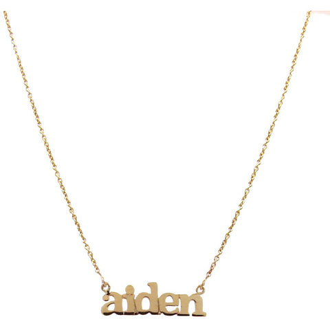 Personalized Family Nameplate Necklaces 1-6 names