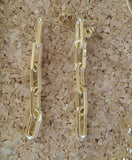 18 KT Gold layered Chain link drop earrings