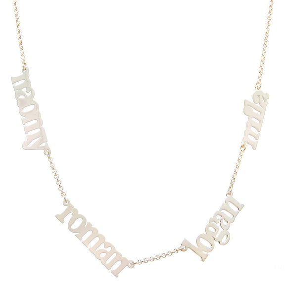 Multiple Nameplate sterling silver or gold plated necklaces