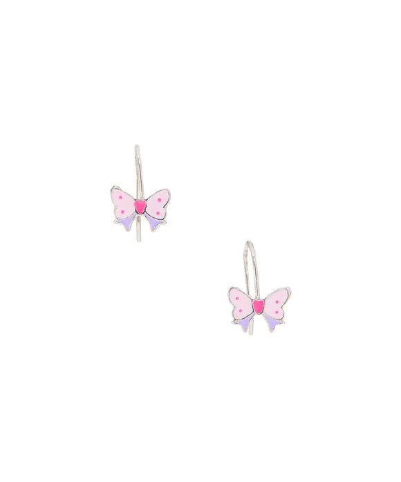 Sterling silver  Children's Kidney wire Butterfly earrings