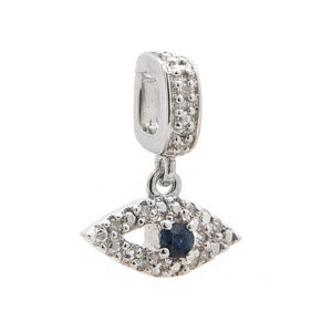 Slider diamond charm Eye sapphire diamond