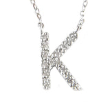 Sterling Big Kid Diamond Letter Necklace