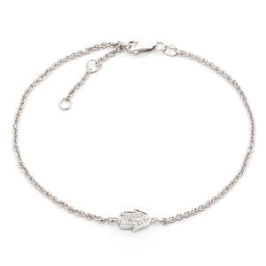 Sterling silver adjustable Diamond hand bracelet