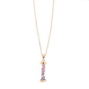 Sterling Silver Glimmer Dust Multi Colored Crystal Pendant