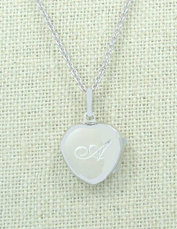 Children's Locket Engraved Script Free Chain