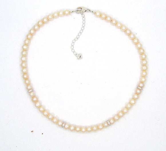 Sterling Silver Children's deluxe pearl necklaces