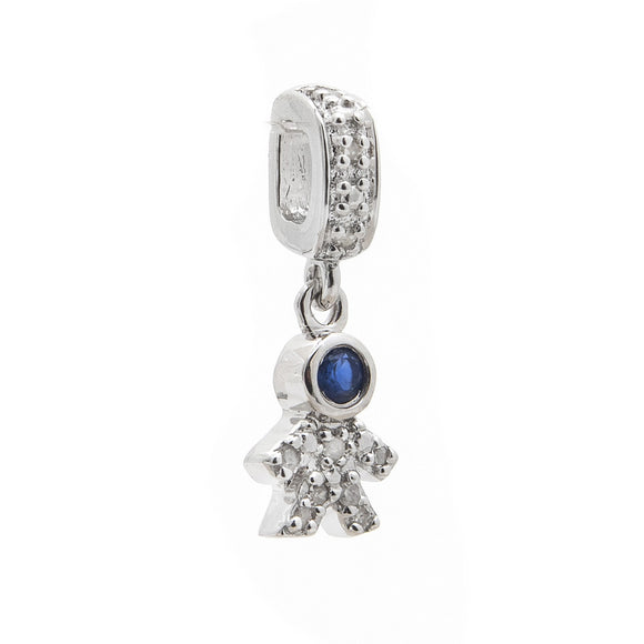 SOSO Diamond Boy Charms for Slider Bracelet