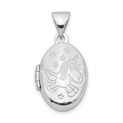 Unicorn Locket Sterling Silver necklace