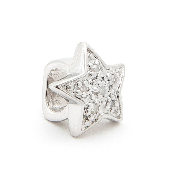 Slider diamond charm star