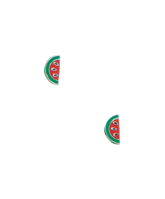 Sterling children's Watermelon slice stud earrings