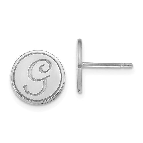 Sterling Silver ABC Stud Earrings