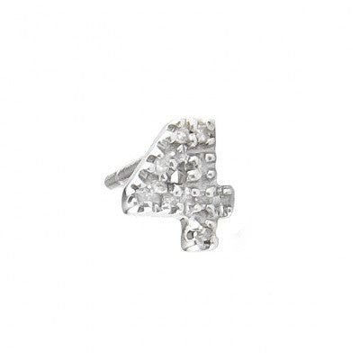 Diamond number earrings singles