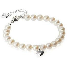 Children's Pearl heart bracelet