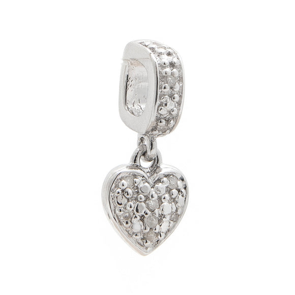 Slider diamond charm heart