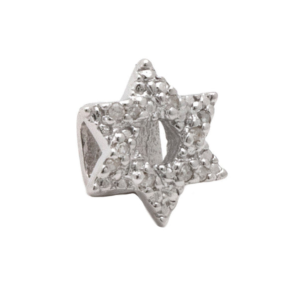 Slider diamond charm Star of David