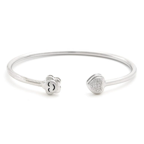 Smile Happy Flower Diamond Bangle