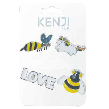 Metal Pin Badge 4pcs - Bee