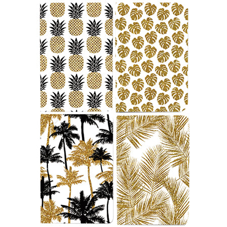 Ginza Notebook HC Gold Hawaii A5
