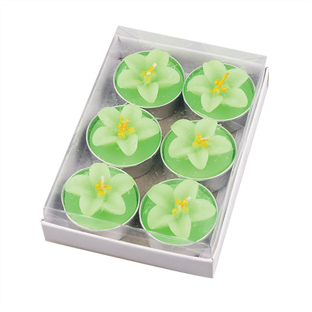 Flower Candle Pack of 6