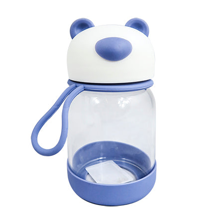 Joso Glass Bottle - Bear 300ML-Blue