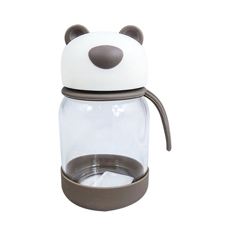 Joso Glass Bottle - Bear 300ML-Brown