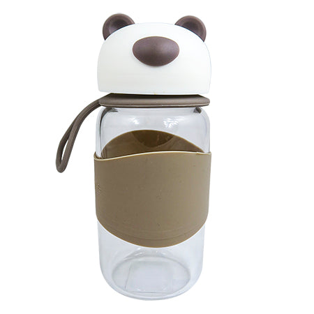 Joso Glass Bottle - Bear 400ML-Brown