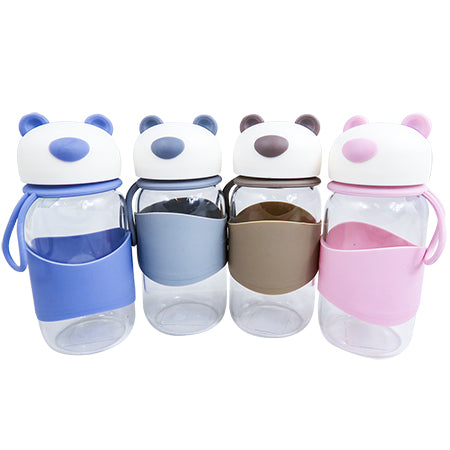 Joso Glass Bottle - Bear 400ML-Blue