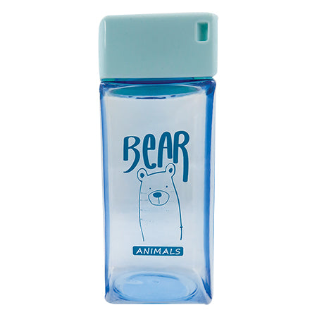Kani Square Water Bottle 350ML - Blue
