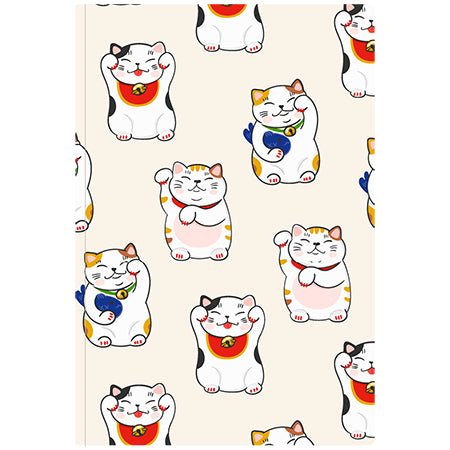 Ginza Notebook Lucky Cat L