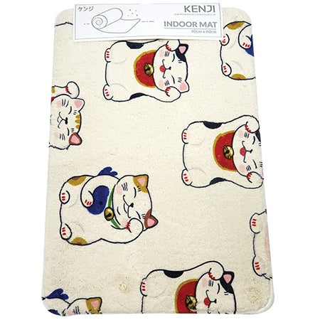 Indoor Mat 40x60 - Lucky Cat Pattern