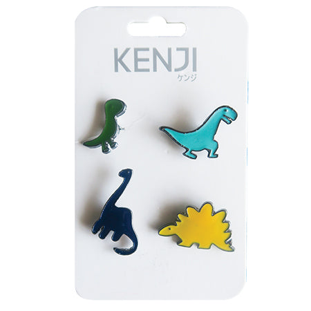 Metal Pin Badge 4pcs - Dino
