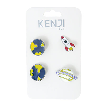 Metal Pin Badge 4pcs - Planet