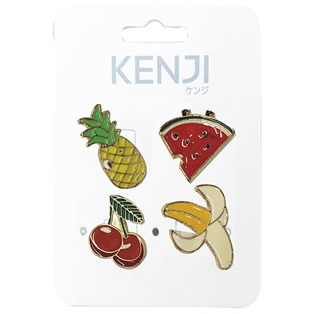 Metal Pin Badge 4pcs - Fruit