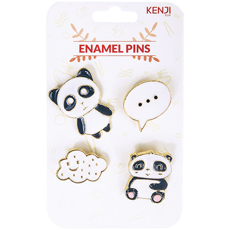 Metal Pin Badge 4pcs - Panda New