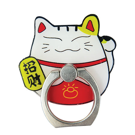 Oshu Ring Holder - Metallic Lucky Cat
